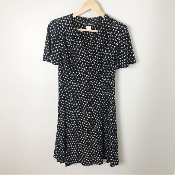 approx womens size medium purple /& pink polka dot 90s vintage skater dress